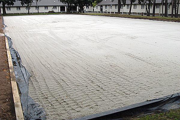 Reitplatzbau Horstmann Ebbe und Flut Dressurplatz
